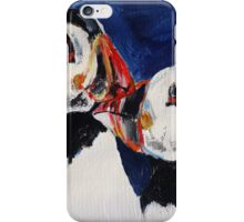 Puffin Wild Birds Fine Art Contemporary Acrylic Painting On Paper iPhone Case/Skin