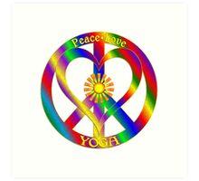 Peace Love Yoga Art Print