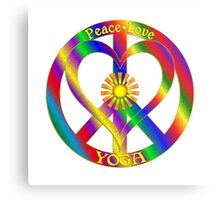 Peace Love Yoga Metal Print