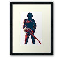 hope art the rock legend with guitar Framed Print