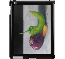 Red Onion, Carrot, and Chili Pepper iPad Case/Skin