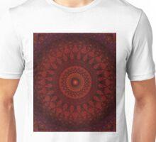 Dark and light red mandala Unisex T-Shirt