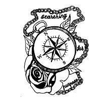 Searching For Purpose Compass Rose Design Photographic Print