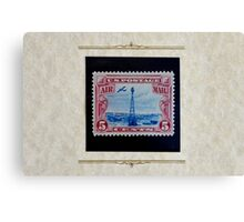 The Five Cent Bi-Color Air Mail Stamp of 1928 Canvas Print