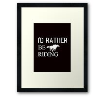 Riding horse and animal Framed Print