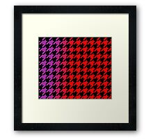 Dogtooth / Houndstooth Gradient  Framed Print