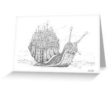 Snail City Greeting Card