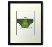 Gameboy UFO Framed Print