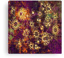 Parisian Vintage Flowers Canvas Print