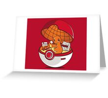 Red Pokehouse Greeting Card