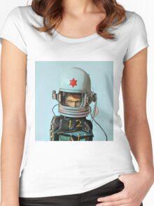 Cosmonaut Vector Women's Fitted Scoop T-Shirt