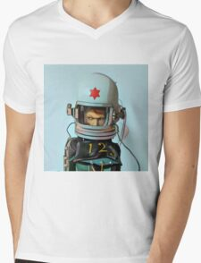 Cosmonaut Vector Mens V-Neck T-Shirt