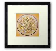 Sacral Chakra Mandala Framed Print