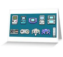Nintendo Controller Family  Greeting Card