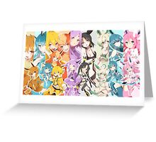 Pokemon Eevee Anime Greeting Card