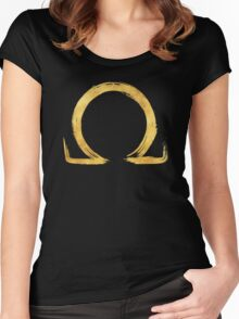 Letter Omega - Gold Edition Women's Fitted Scoop T-Shirt