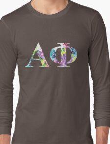 alpha phi floral block letters Long Sleeve T-Shirt