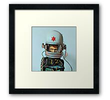 Cosmonaut Vector Large Framed Print
