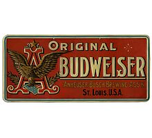 VINTAGE BUDWEISER BEER RETRO Photographic Print