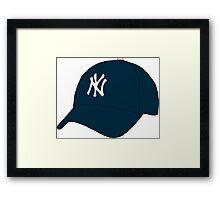 Yankees Hat Framed Print