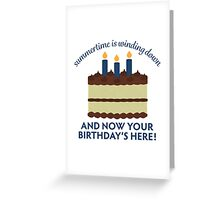 September Baby Birthday Cakes Greeting Card