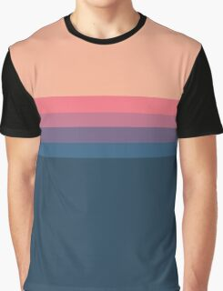 Coral blue Color blocks pattern  Graphic T-Shirt