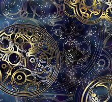 Spacey Tardis Circular Gallifreyan design  by siroctopus