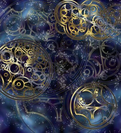 Spacey Tardis Circular Gallifreyan design  Sticker