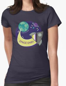 Space Enby Womens Fitted T-Shirt