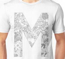 Botanical Alphabet Letter M Unisex T-Shirt
