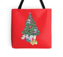 Cats and Dogs Christmas Tree Tote Bag