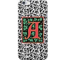Elegant Renaissance Letter A Monogram iPhone Case/Skin
