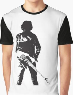 the rock legend with guitar on back Graphic T-Shirt