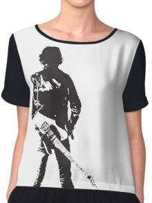 the rock legend with guitar on back Chiffon Top