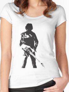 the rock legend with guitar on back Women's Fitted Scoop T-Shirt
