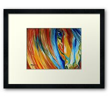 ABSTRACT EQUINE HOPE 2418 Framed Print