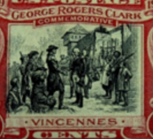 George Rogers Clark Commemorative Stamp Sticker