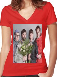 Animal Collective #5 Women's Fitted V-Neck T-Shirt
