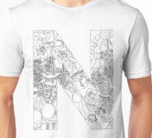 Botanical Alphabet Letter N Unisex T-Shirt