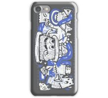 Doodle Ghost Party iPhone Case/Skin