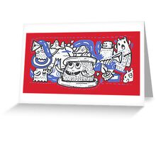 Doodle Ghost Party Greeting Card