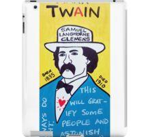 Mark Twain Folk Art iPad Case/Skin