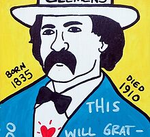 Mark Twain Folk Art by krusefolkart