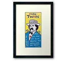 Mark Twain Folk Art Framed Print