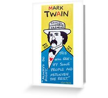 Mark Twain Folk Art Greeting Card