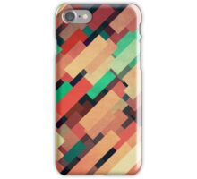 Abstraction #004 Red Green Yellow Geometric Blocks iPhone Case/Skin