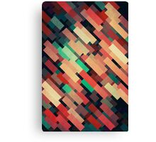 Abstraction #004 Red Green Yellow Geometric Blocks Canvas Print