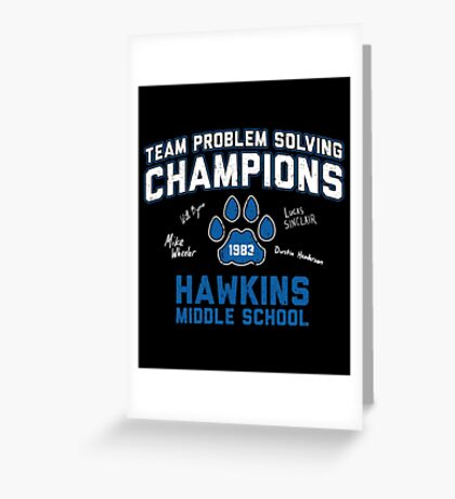1983 Hawkins Middle School Team Problem Solving Champions Greeting Card
