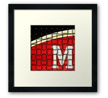 M Is For..... Framed Print