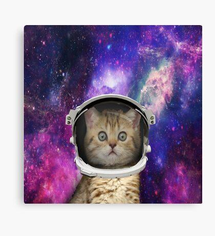 Galaxy Space Kitten Canvas Print